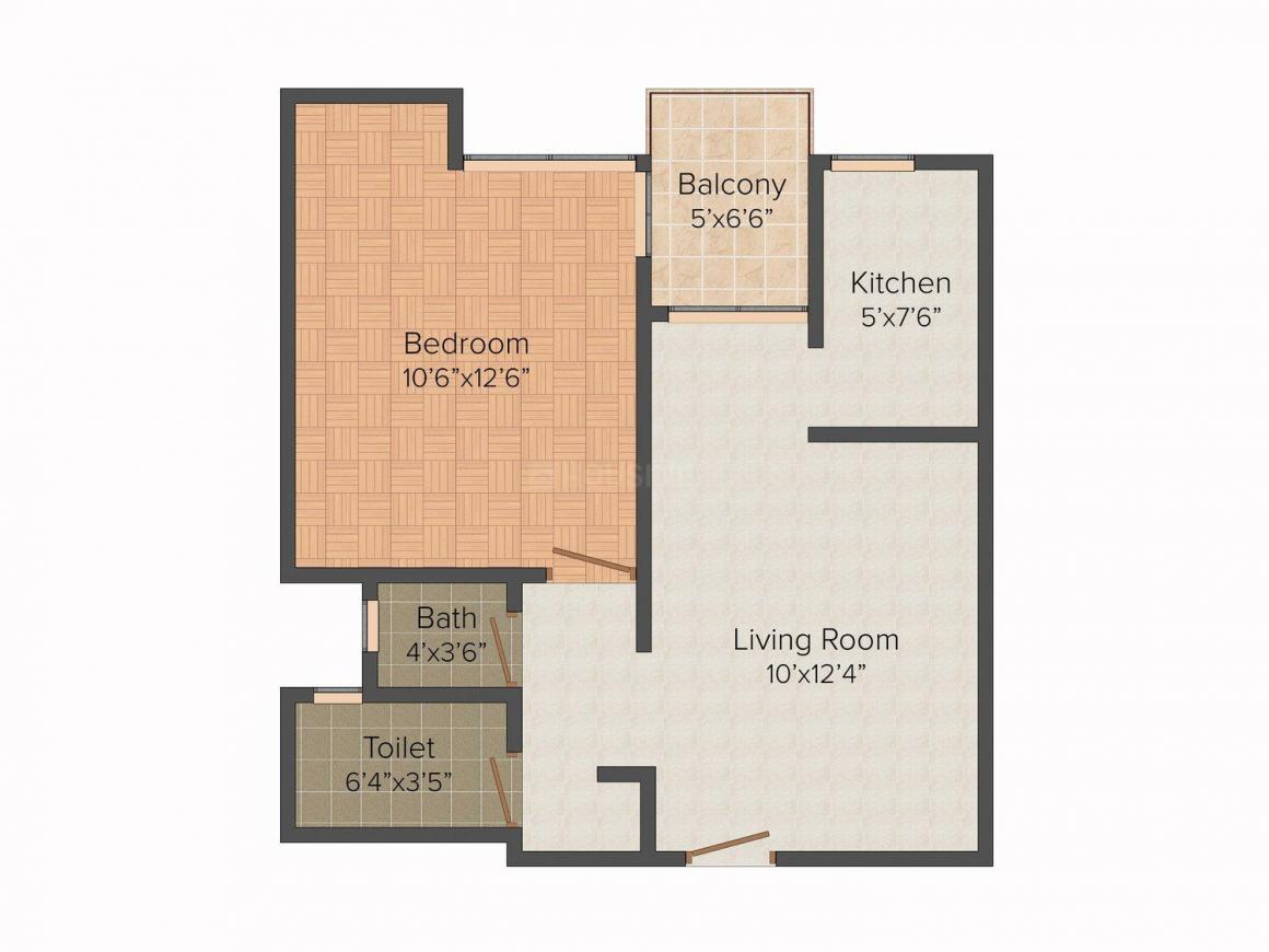 Floor Plan Image of 650 - 950 Sq.ft 1 BHK Apartment for buy in Anmol