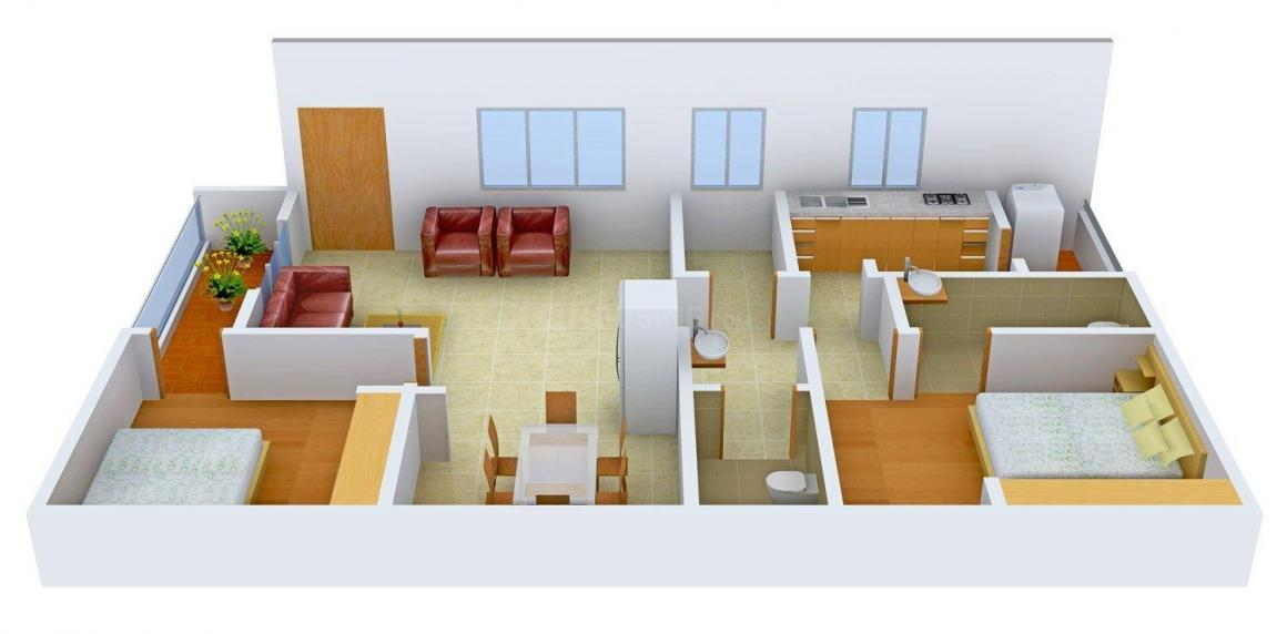 Floor Plan Image of 1160.0 - 1220.0 Sq.ft 2 BHK Apartment for buy in BR Hemadurga Towers