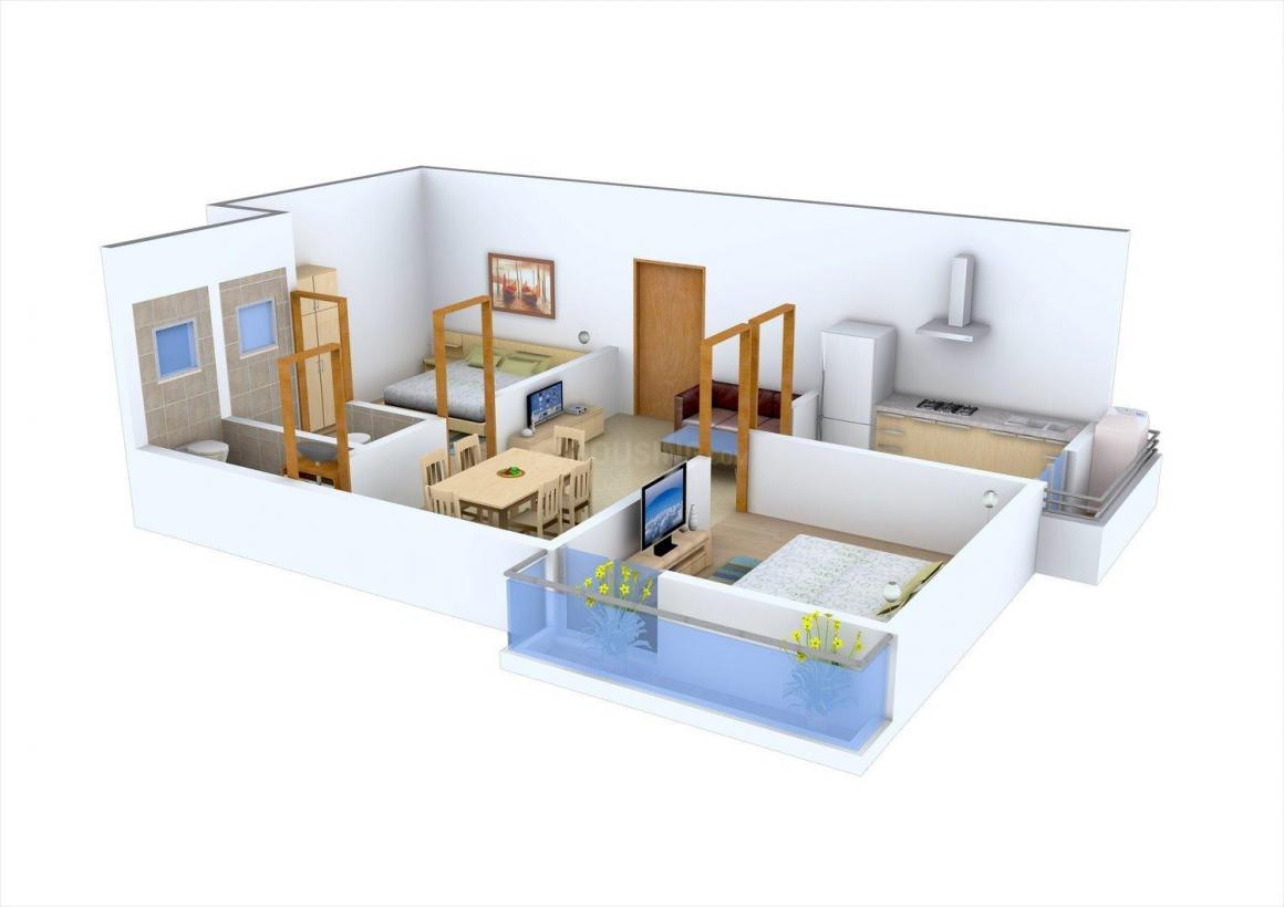 Floor Plan Image of 714.0 - 893.0 Sq.ft 2 BHK Apartment for buy in Cee Pee Ajuba Nakshtra