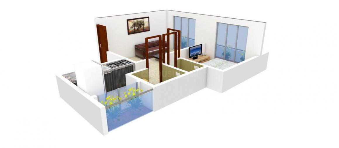 Floor Plan Image of 615 - 645 Sq.ft 1 BHK Apartment for buy in Future Jalaram Park