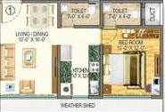 Vas Pushp Vinod 8 Floor Plan: 1 BHK Unit with Built up area of 350 sq.ft 1