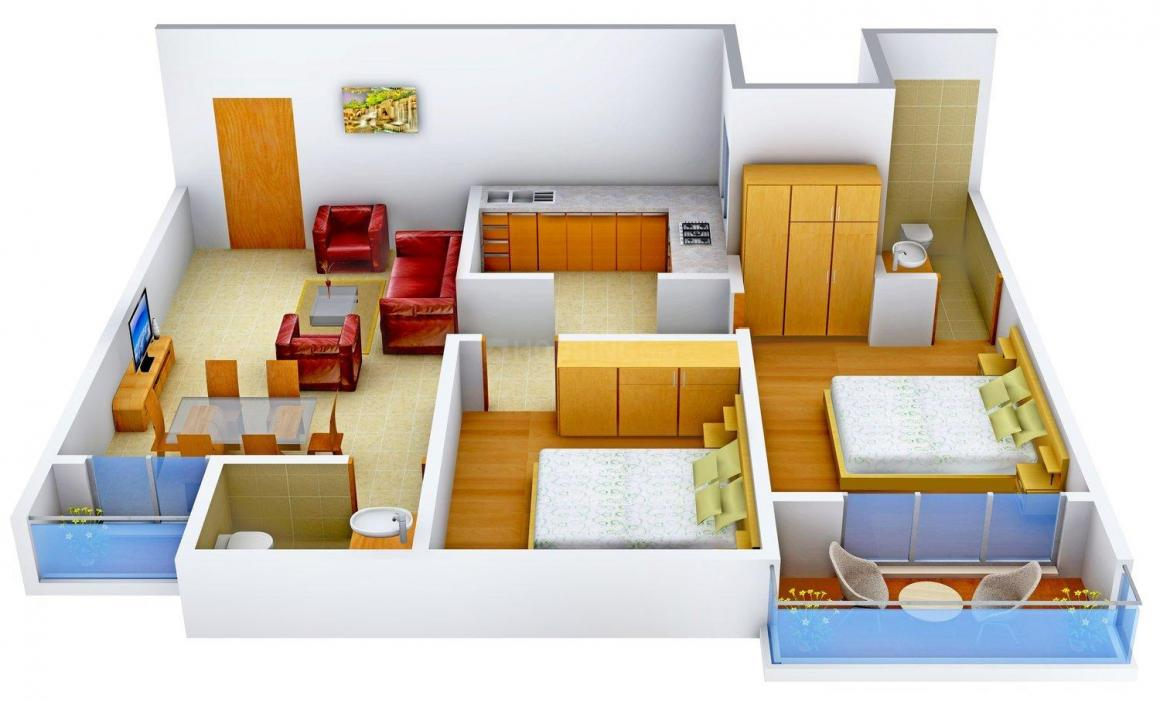 Floor Plan Image of 976.0 - 1332.0 Sq.ft 2 BHK Apartment for buy in Paras Kunj