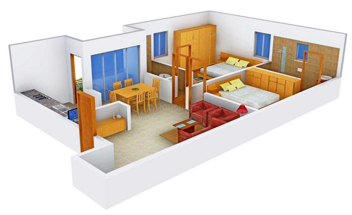 Floor Plan Image of 1040.0 - 1485.0 Sq.ft 2 BHK Apartment for buy in Sri Dhatri Sridhatri Tulip