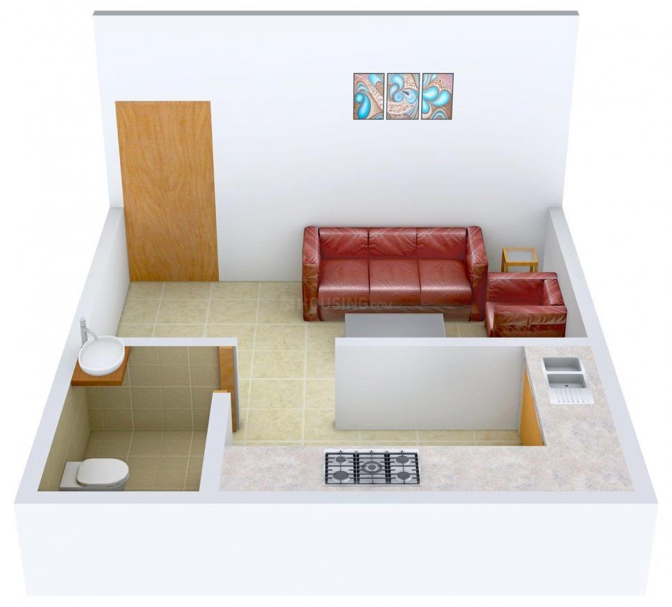 Floor Plan Image of 375.0 - 525.0 Sq.ft 1 RK Apartment for buy in Prabhav