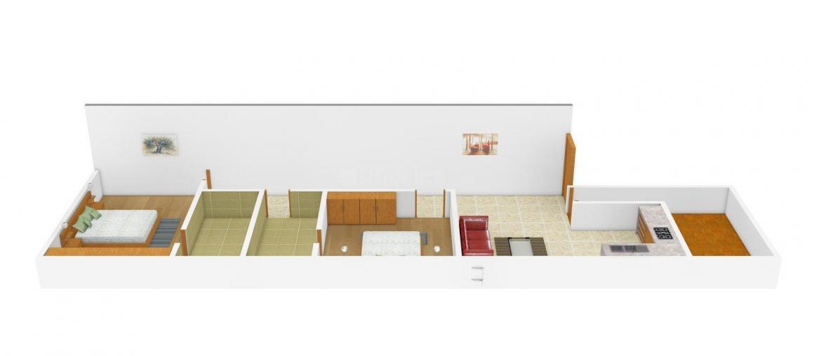 Floor Plan Image of 0 - 720 Sq.ft 2 BHK Independent Floor for buy in Swati Homes