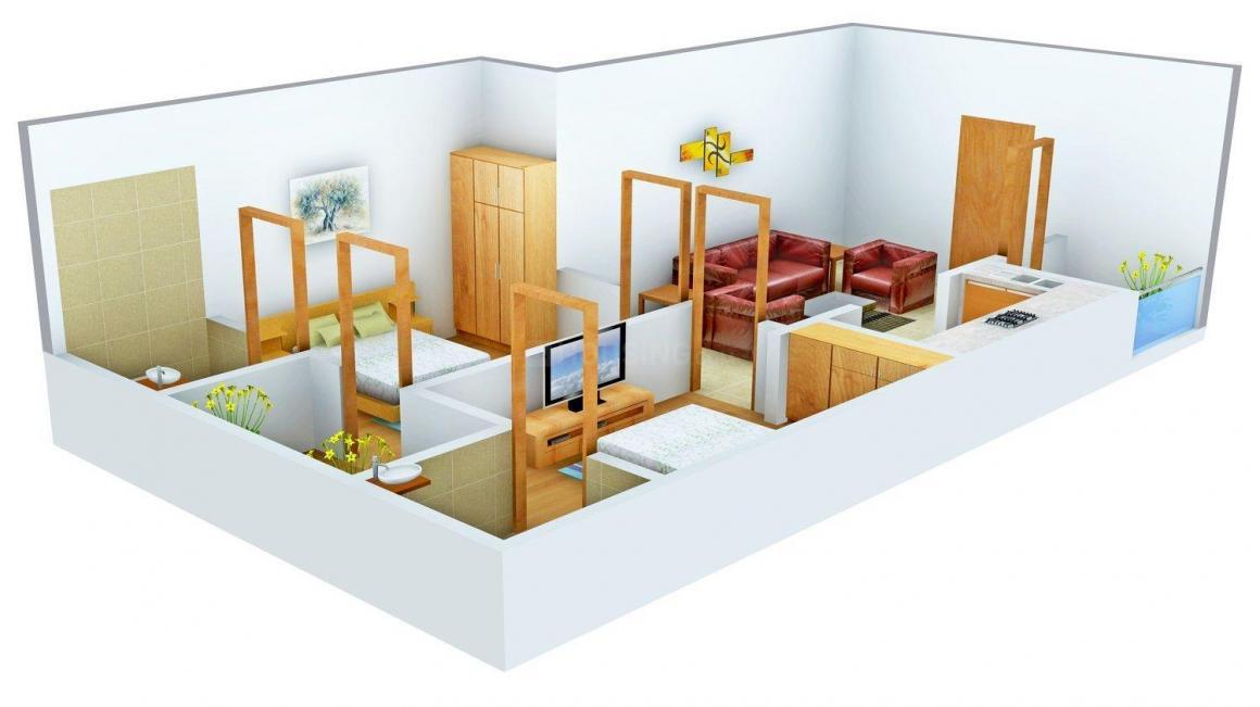 Floor Plan Image of 0 - 800 Sq.ft 2 BHK Independent Floor for buy in Shri Bankey Homes - 2