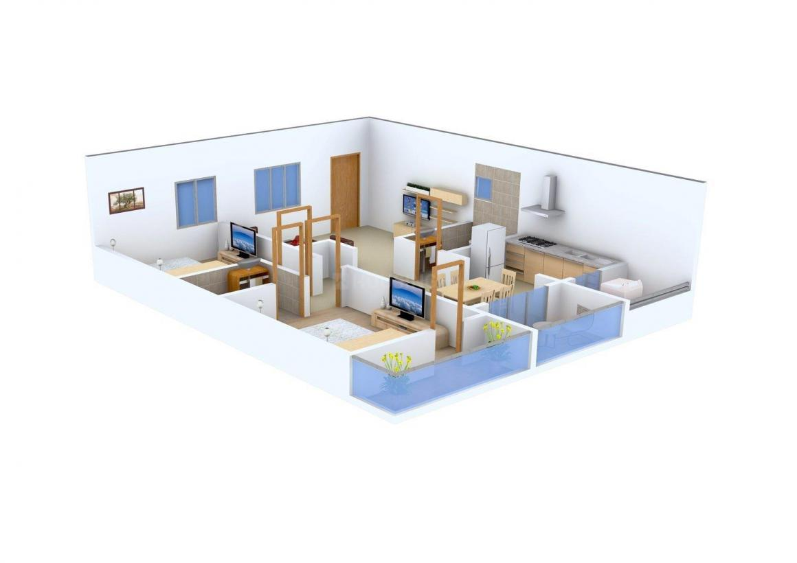 Floor Plan Image of 1230 - 1570 Sq.ft 2 BHK Apartment for buy in Pariwar Passion