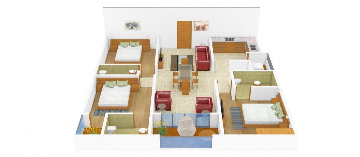 Floor Plan Image of 0 - 1700.0 Sq.ft 3 BHK Independent Floor for buy in BF 147 SL 3