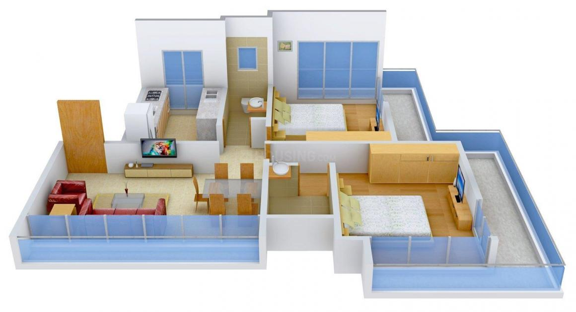 Floor Plan Image of 970 - 1345 Sq.ft 2 BHK Apartment for buy in Rughani Hansa Heritage