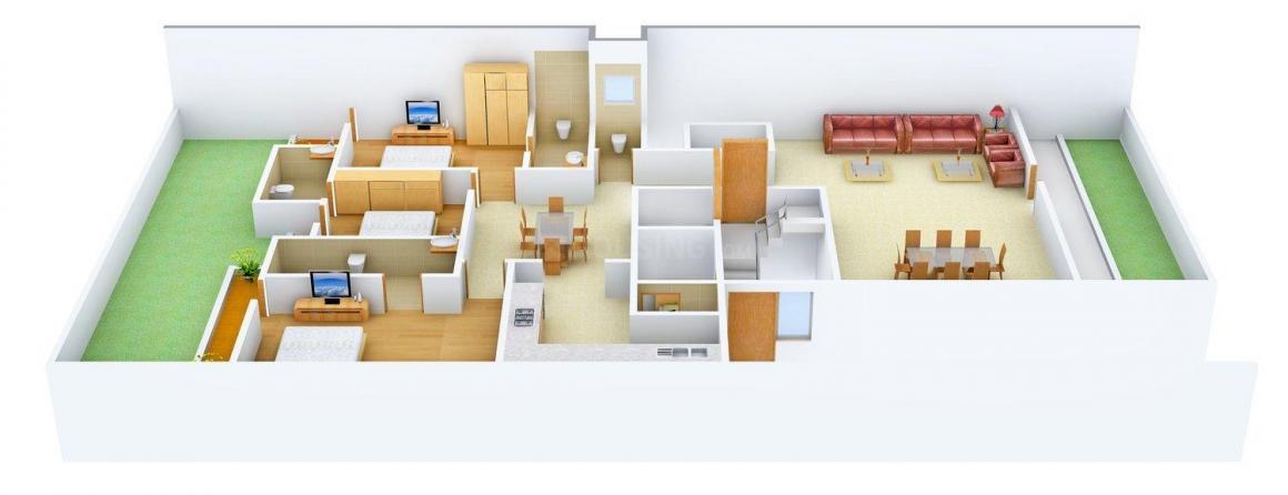 Floor Plan Image of 0 - 2000 Sq.ft 3 BHK Independent Floor for buy in SAP Floors 1