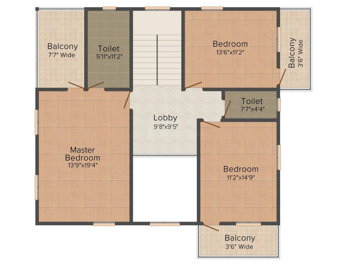 Floor Plan Image of 2120 - 2368 Sq.ft 4 BHK Villa for buy in Nanu Sapana Palmeiras