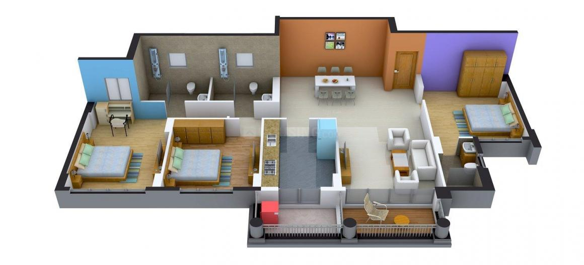 Floor Plan Image of 1871 - 2113 Sq.ft 3 BHK Apartment for buy in DLF Gardencity