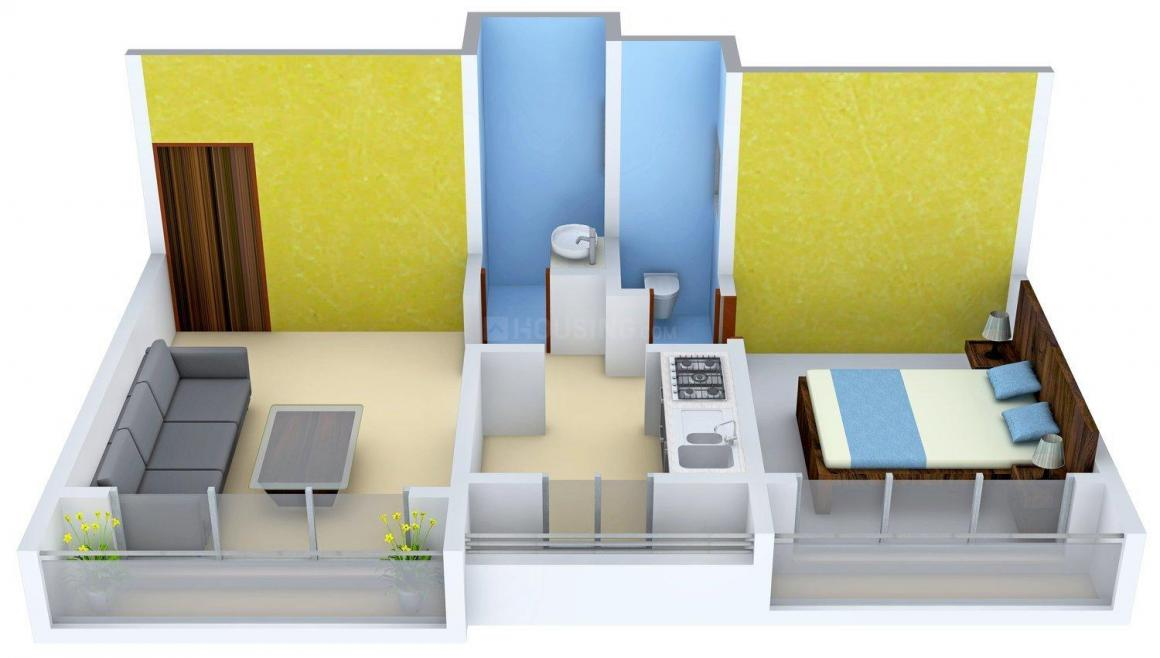 Floor Plan Image of 695 - 697 Sq.ft 1 BHK Apartment for buy in Pil Towers
