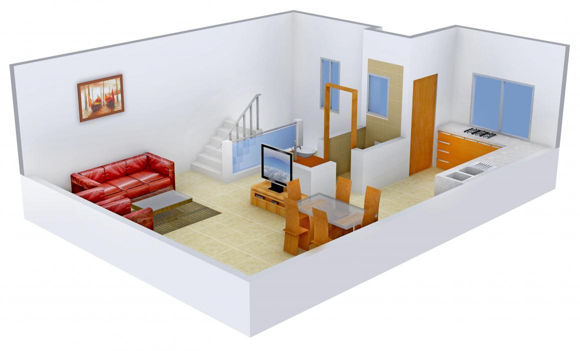 Shree Radha Jaldeep Entice Floor Plan: 3 BHK Unit with Built up area of 2160 sq.ft 2