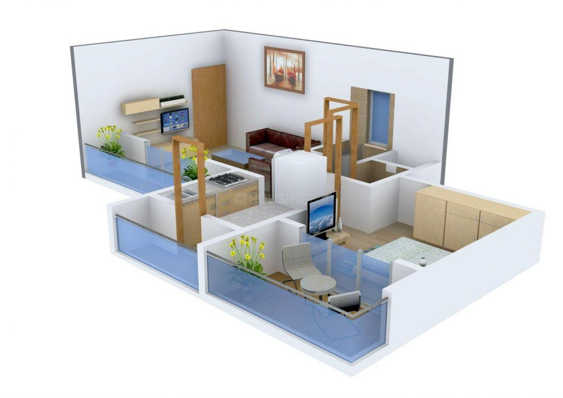 Floor Plan Image of 0 - 490.0 Sq.ft 1 BHK Apartment for buy in Neelkanth Panchnand Heights