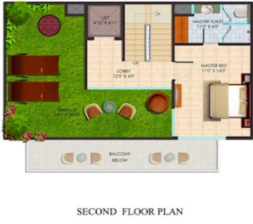 Supertech Sports City Villas Floor Plan: 4 BHK Unit with Built up area of 2405 sq.ft 1