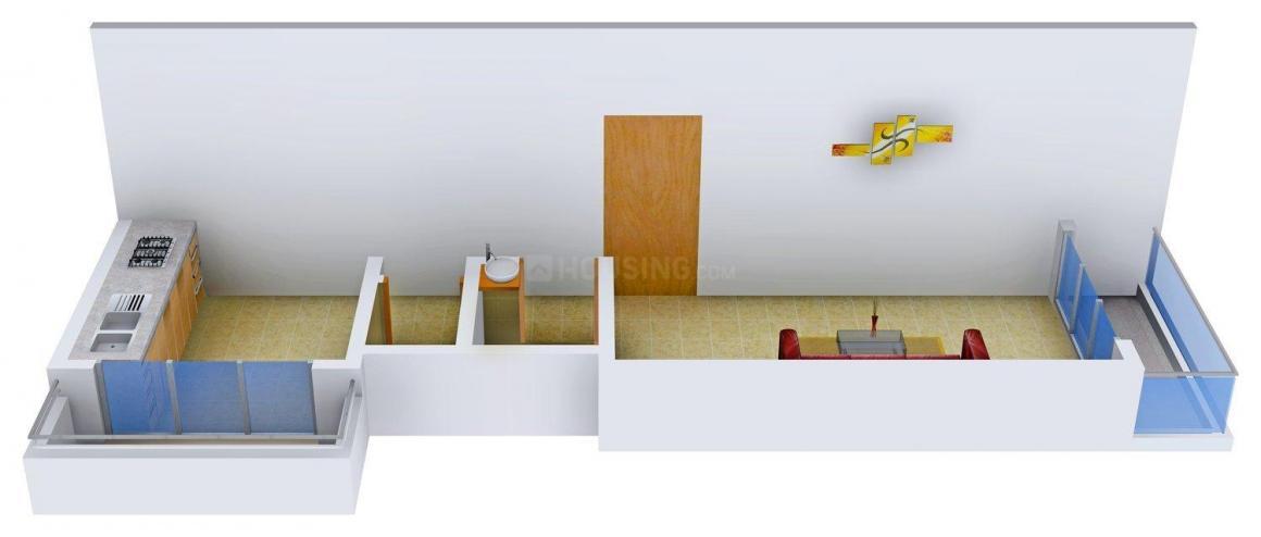 Floor Plan Image of 395 - 730 Sq.ft 1 RK Apartment for buy in Aalok Shiv Vatika