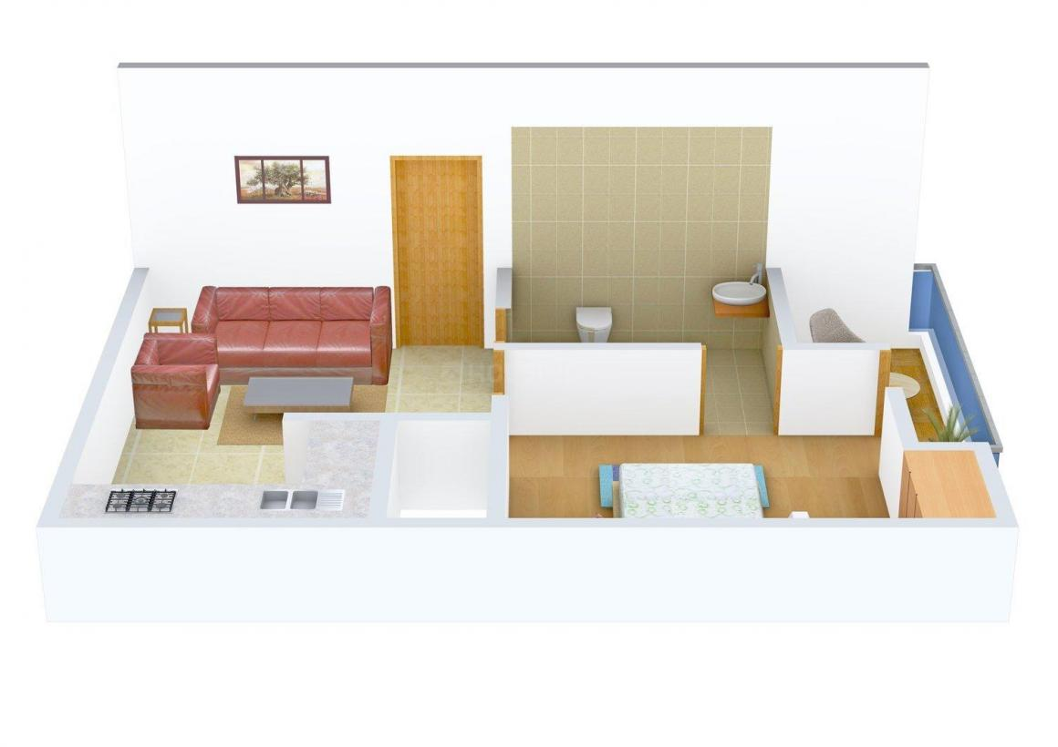 Floor Plan Image of 360 - 540 Sq.ft 1 BHK Independent Floor for buy in Shiv Kushal Home - 1