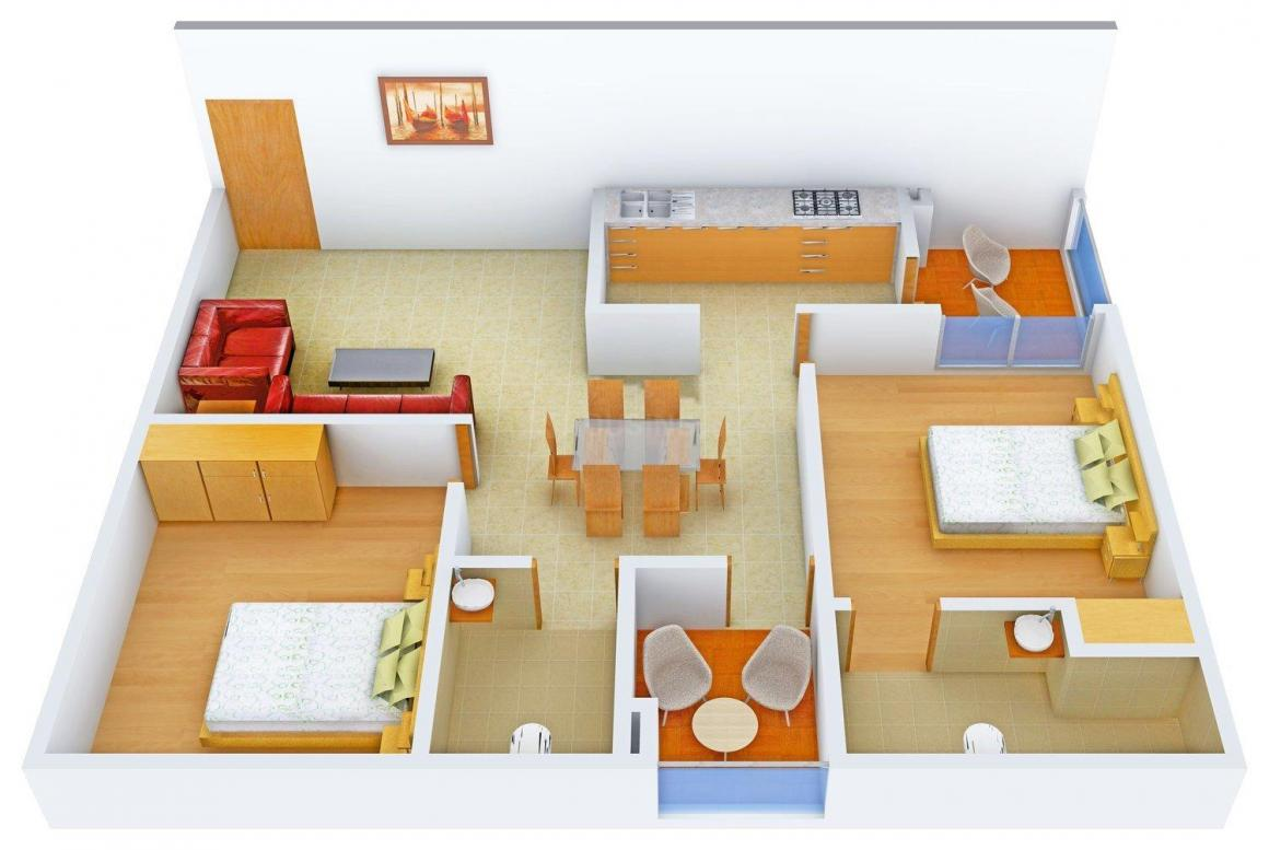 Floor Plan Image of 1139.0 - 2652.0 Sq.ft 2 BHK Apartment for buy in Aashish The Foresta