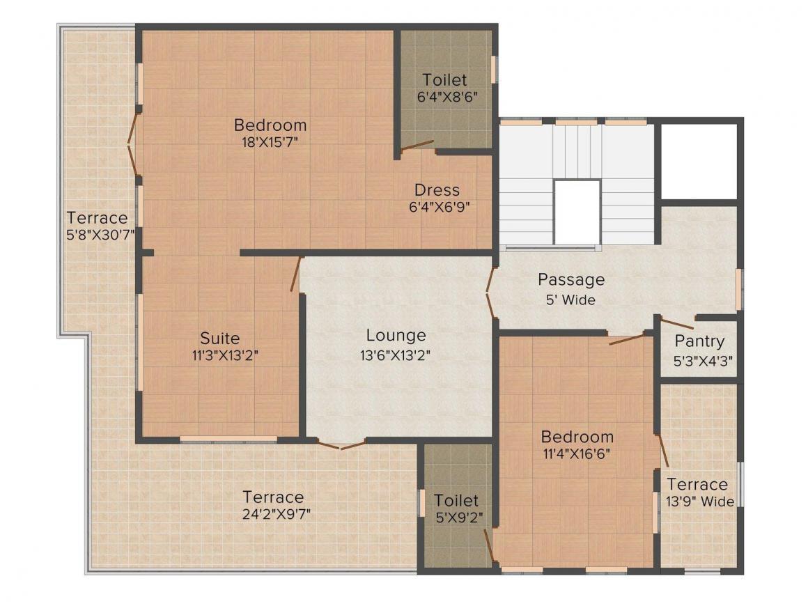 2D - Second Floor