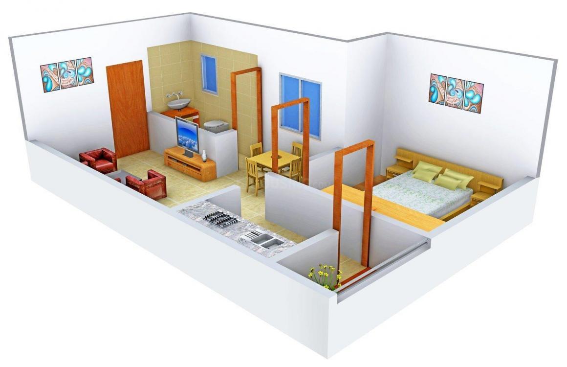 Floor Plan Image of 525 - 1000 Sq.ft 1 BHK Apartment for buy in Shubh - Laabh Tirumala Heights