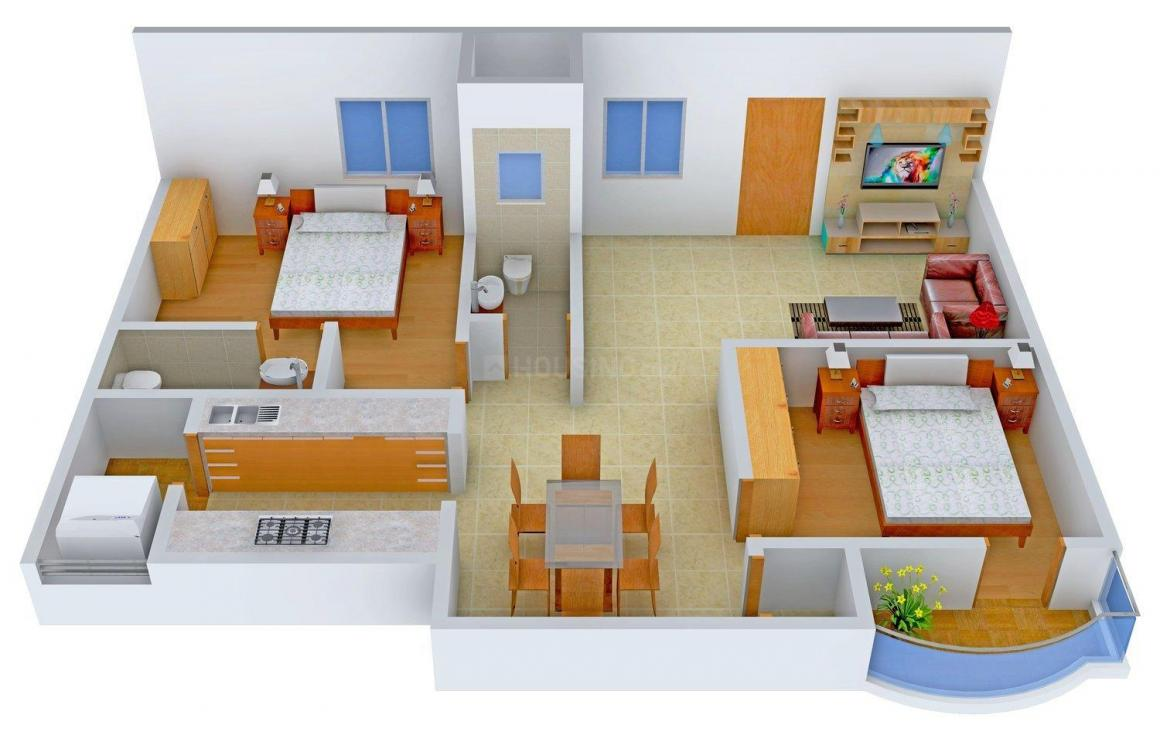 Anish Homes Anish Cheela s HH Avenue Floor Plan: 2 BHK Unit with Built up area of 1100 sq.ft 2