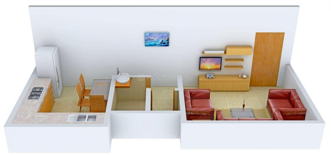 Floor Plan Image of 272.0 - 525.0 Sq.ft 1 RK Apartment for buy in Subhadra Royale Town Shree Lambodar