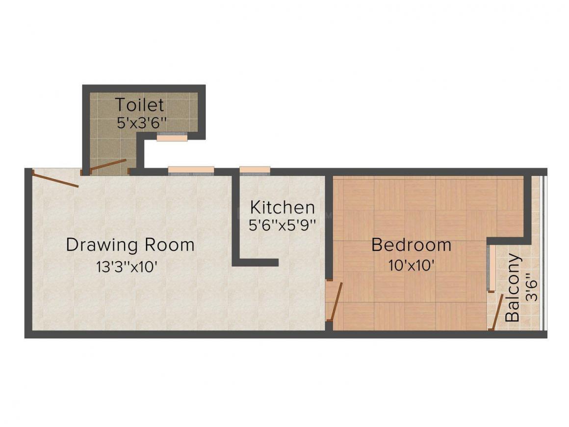 Floor Plan Image of 450 - 750 Sq.ft 1 BHK Independent Floor for buy in Eshaan Homes III