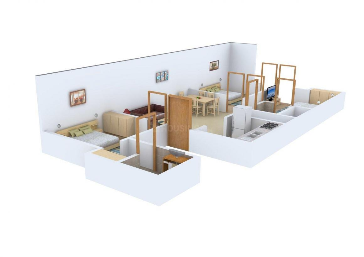 Sita Floors - 3 Floor Plan: 3 BHK Unit with Built up area of 1449 sq.ft 1