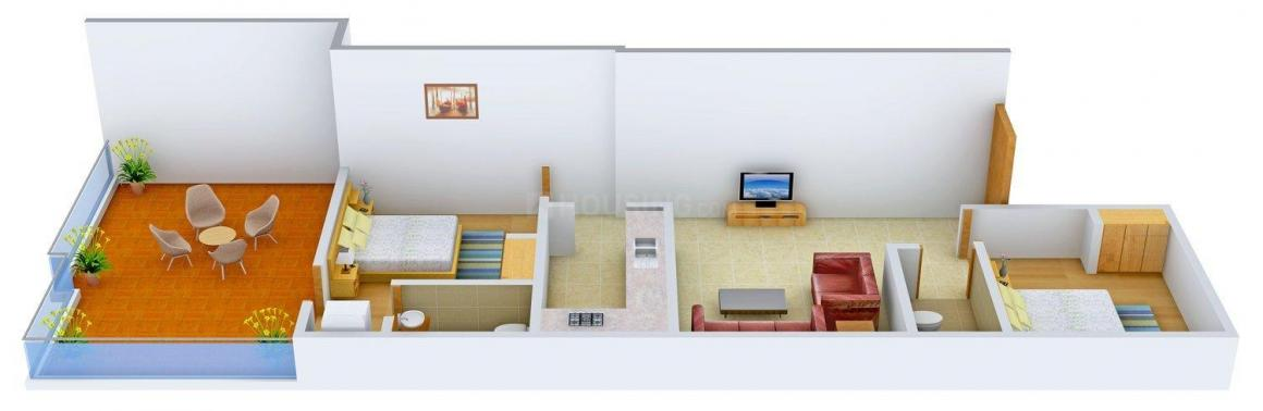 Floor Plan Image of 0 - 810 Sq.ft 2 BHK Apartment for buy in DAC M & S Arcade