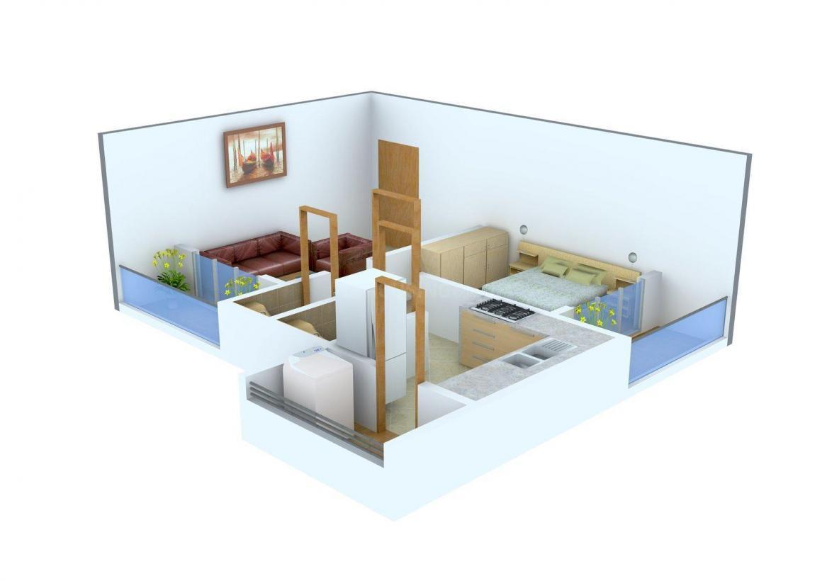Floor Plan Image of 0 - 735.0 Sq.ft 1 BHK Apartment for buy in Mahajan Amar Jyot