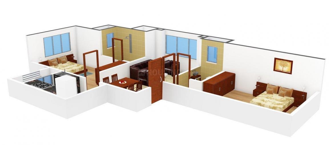Floor Plan Image of 0 - 625.0 Sq.ft 2 BHK Apartment for buy in Rasal Vaibhavi Villa