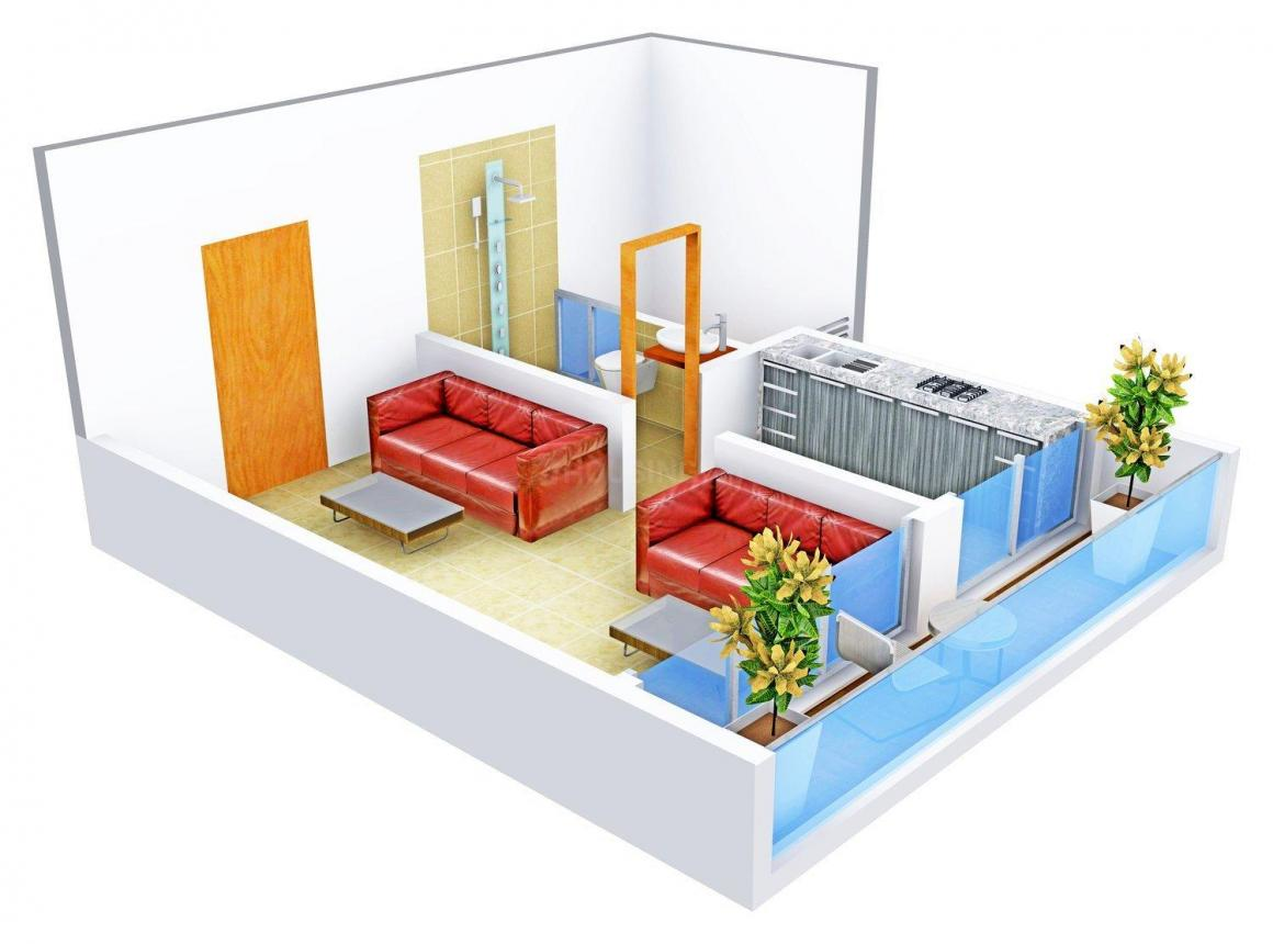 Floor Plan Image of 360.0 - 839.0 Sq.ft 1 RK Apartment for buy in Soni Life Spaces X-82 Heights