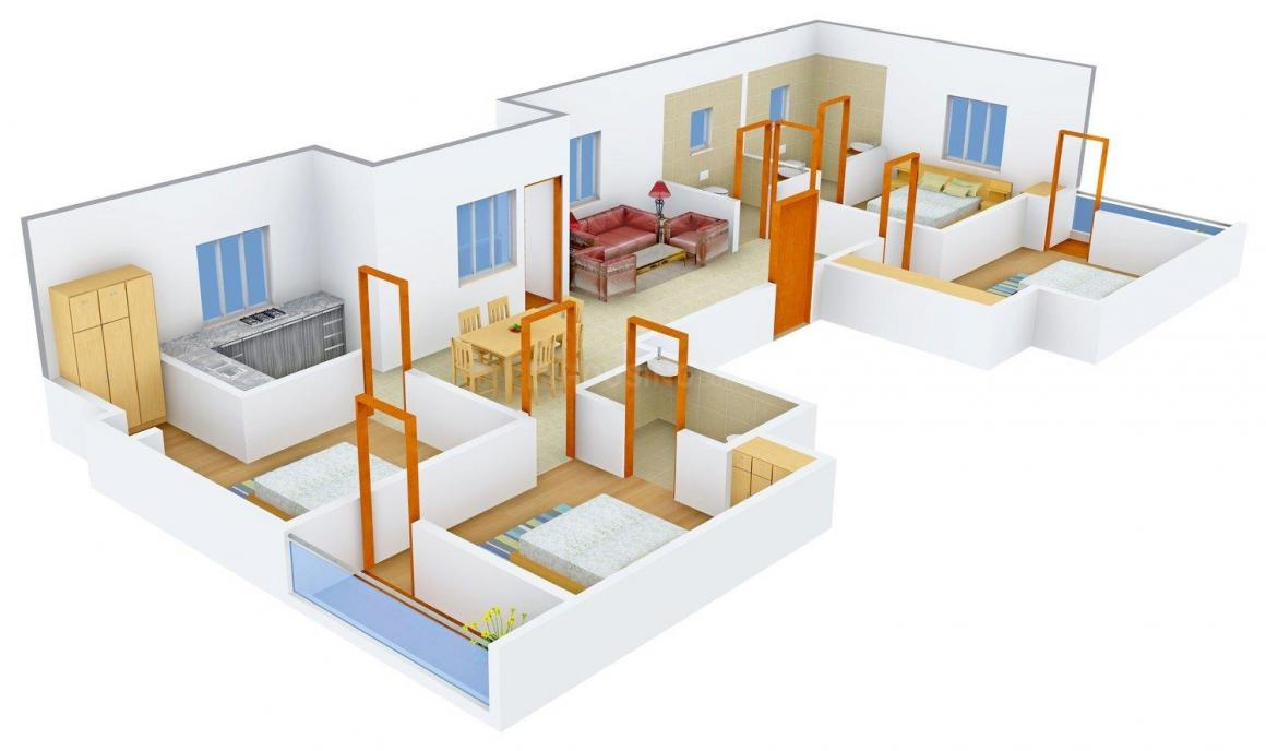 Floor Plan Image of 0 - 1275.0 Sq.ft 4 BHK Independent Floor for buy in Dass Appartment