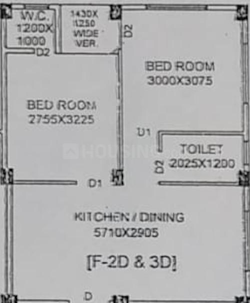 Anil Nibas Floor Plan: 2 BHK Unit with Built up area of 627 sq.ft 1