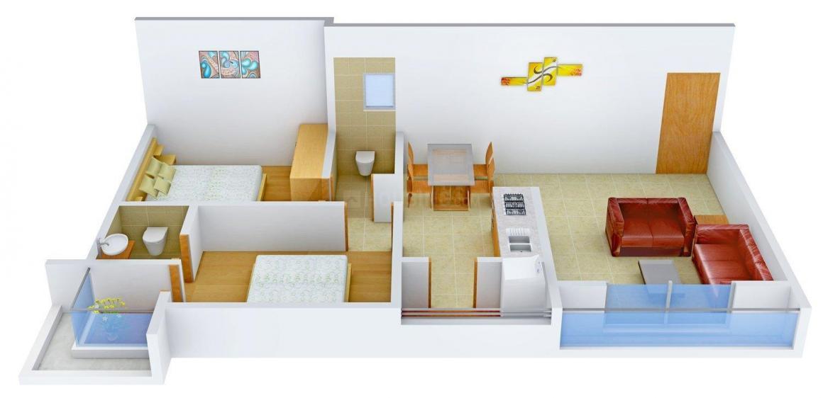 Floor Plan Image of 1179.0 - 1620.0 Sq.ft 2 BHK Apartment for buy in Madhuram Madhuram Greens