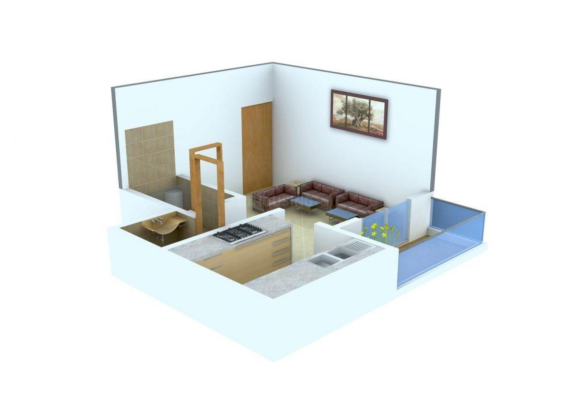 Floor Plan Image of 0 - 240 Sq.ft 1 RK Apartment for buy in Mytri