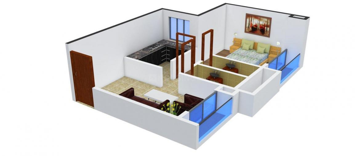 Floor Plan Image of 505.0 - 700.0 Sq.ft 1 BHK Apartment for buy in Rander Krishna Nagar