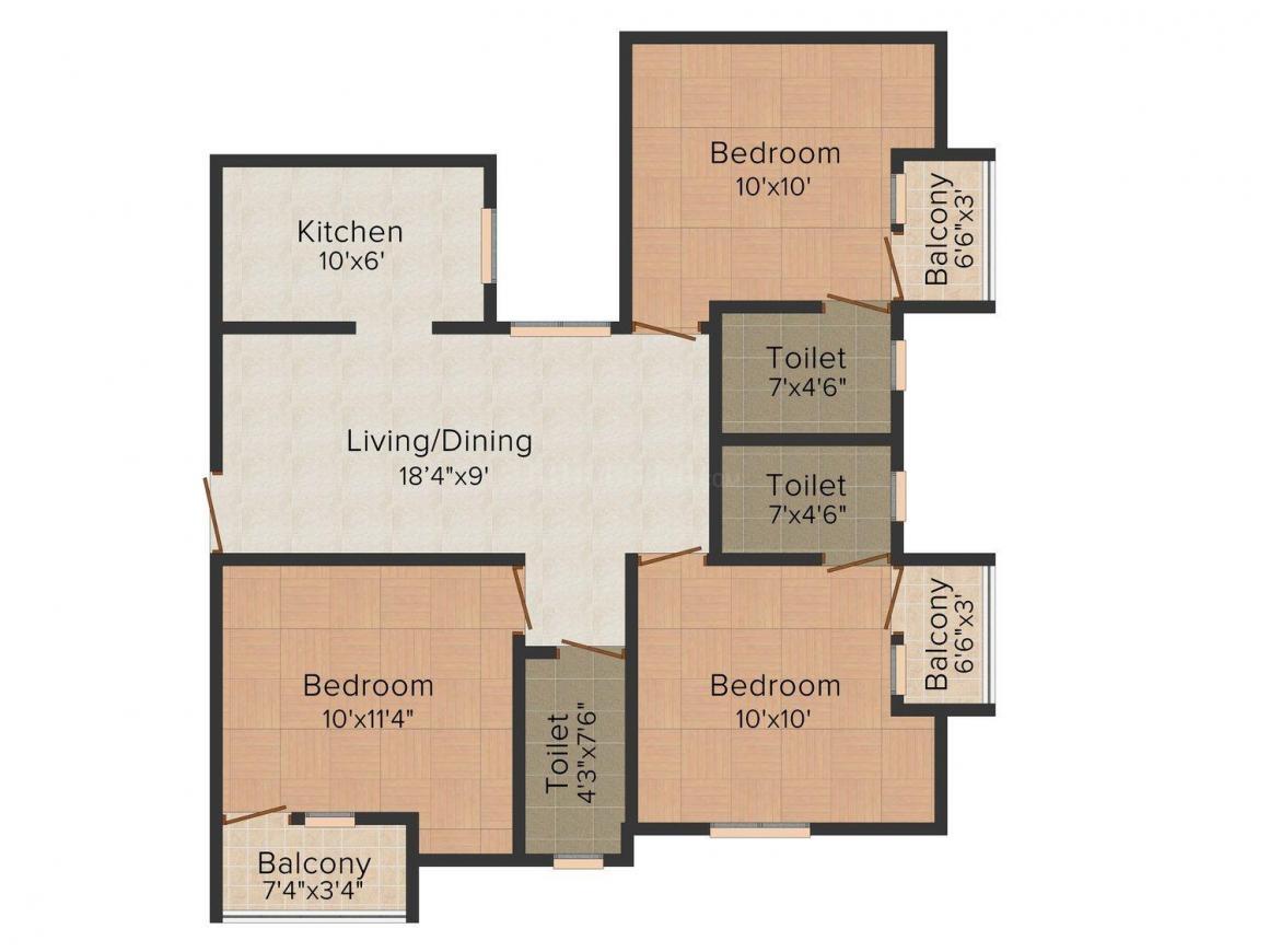 Floor Plan Image of 526 - 1121 Sq.ft 1 BHK Apartment for buy in MACC Soorya