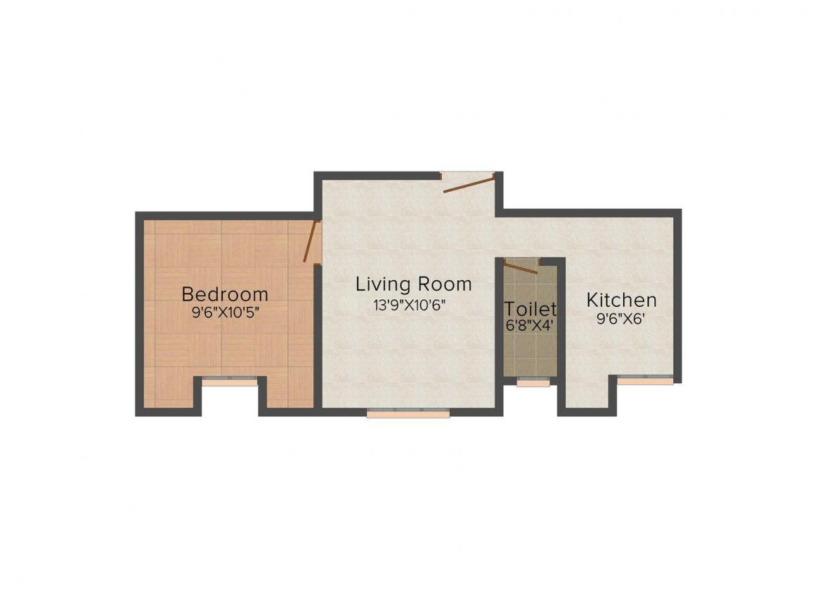 Floor Plan Image of 500 - 765 Sq.ft 1 BHK Apartment for buy in AR Shakthi