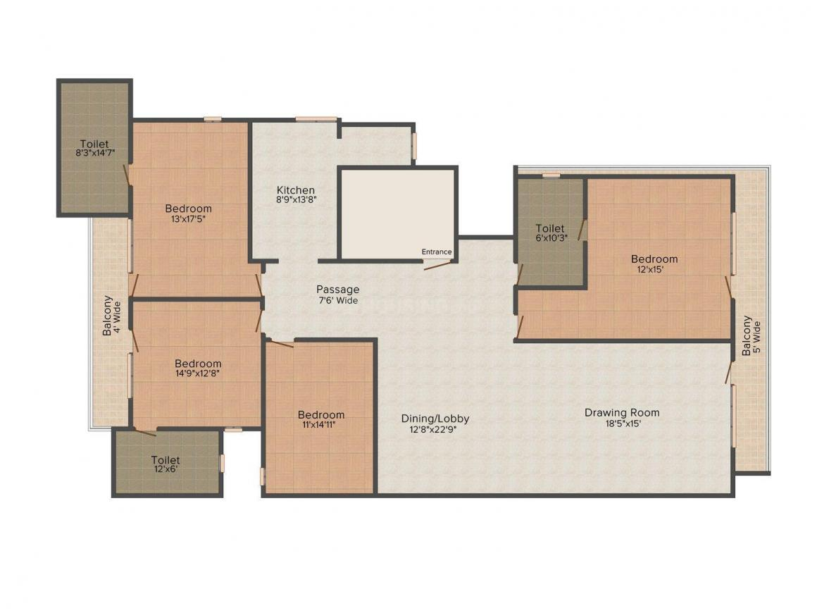 Floor Plan Image of 0 - 3150 Sq.ft 4 BHK Independent Floor for buy in Satyam Apartment - 56