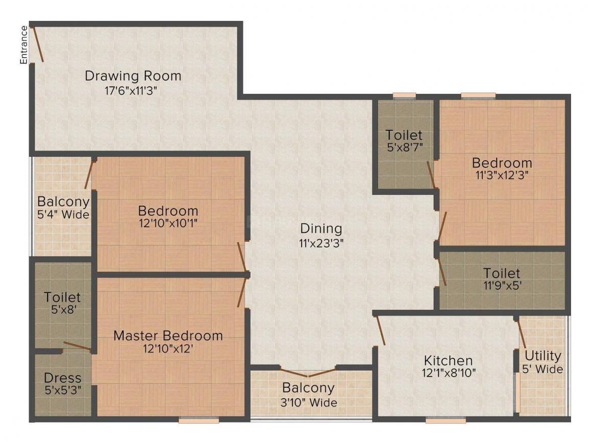 Floor Plan Image of 0 - 1700.0 Sq.ft 3 BHK Independent Floor for buy in Stylize Homes 5