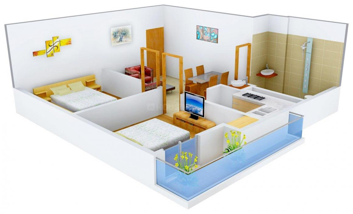 Floor Plan Image of 0 - 750 Sq.ft 2 BHK Independent Floor for buy in Sai Dham - 2