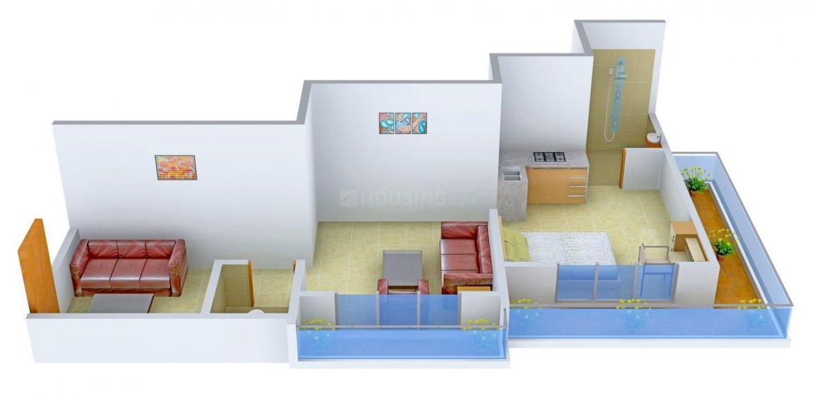 Floor Plan Image of 332.0 - 712.0 Sq.ft 1 RK Apartment for buy in Grace Pinnacle