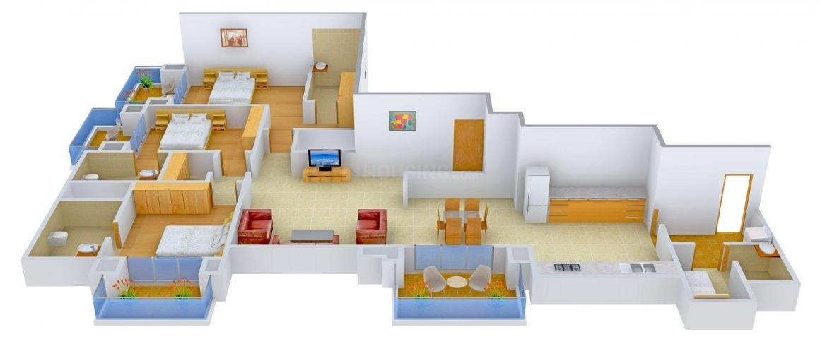 Floor Plan Image of 2635 - 10285 Sq.ft 3 BHK Apartment for buy in Mantri Espana