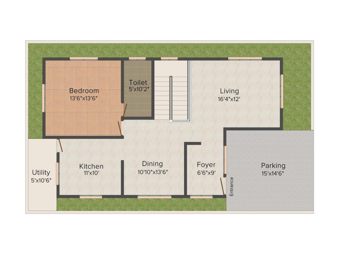 Hillcrest Floor Plan: 4 BHK Unit with Built up area of 2900 sq.ft 1