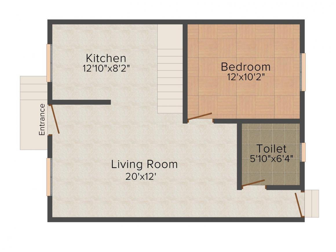 Floor Plan Image of 0 - 2400 Sq.ft 4 BHK Duplex for buy in Royal Pearls