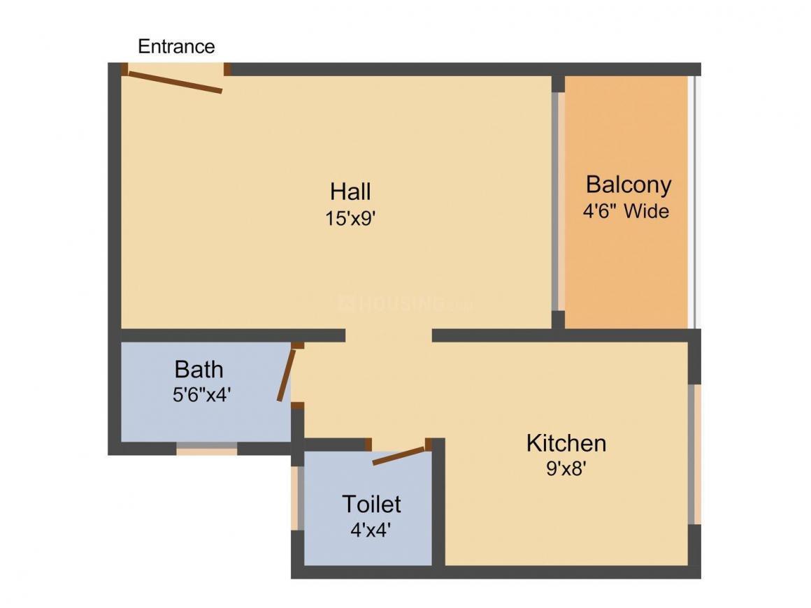 Floor Plan Image of 410.0 - 935.0 Sq.ft 1 RK Apartment for buy in Vinayak Shree
