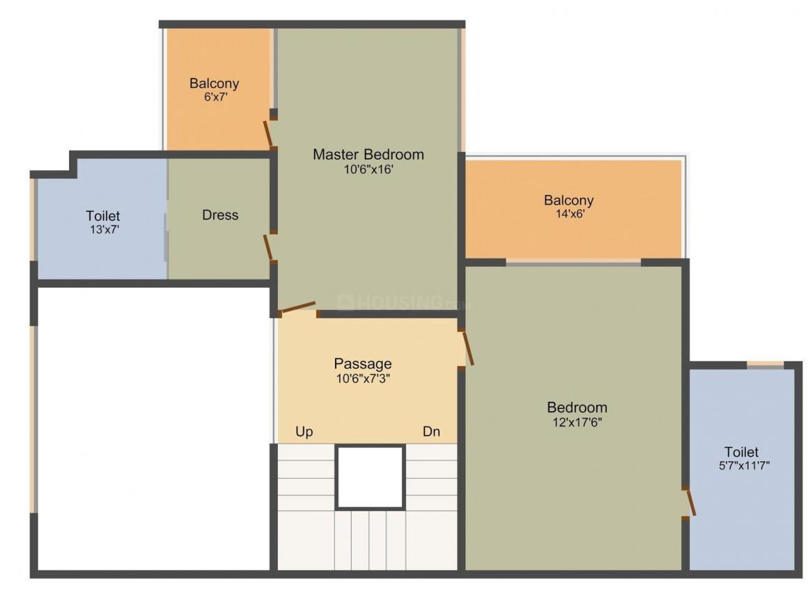 DLH Swastik Palazzo Floor Plan: 4 BHK Unit with Built up area of 2646 sq.ft 3