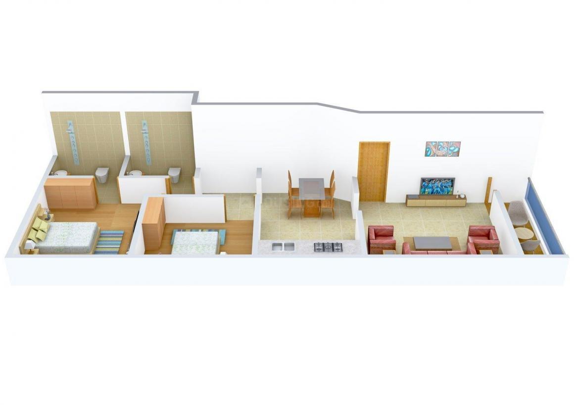 Floor Plan Image of 0 - 995 Sq.ft 2 BHK Apartment for buy in Shree Tirumala Rachana
